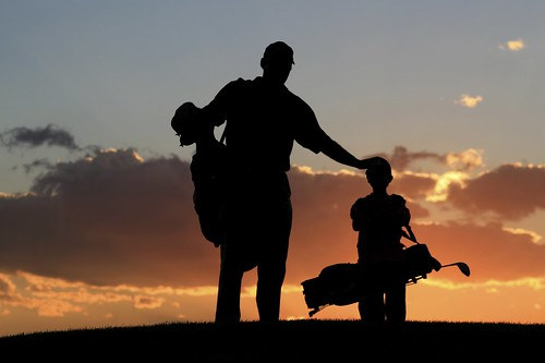 Family Golf - Evening View of Golf Ground