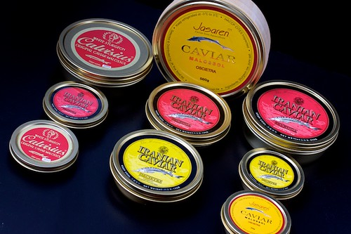 Selection of Farmed and Wild Caviar