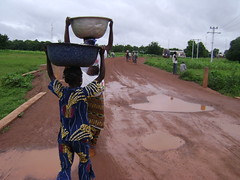 Walking the Burkina road to Ghana.
