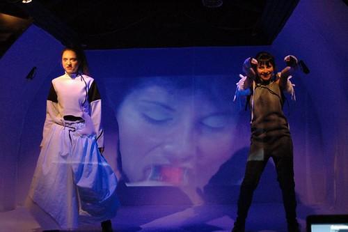 Katia Pascariu, Andreea Bibiri & Cinty's projection in CONCRETII