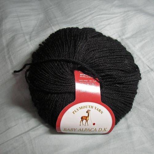 Plymouth Yarn Baby Alpaca DK black