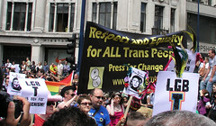 'Respect and Equality for ALL Trans People', London Pride 2008.