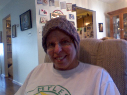 mom with her headband