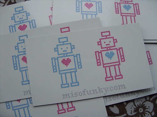 Robot Love Magnets by you.