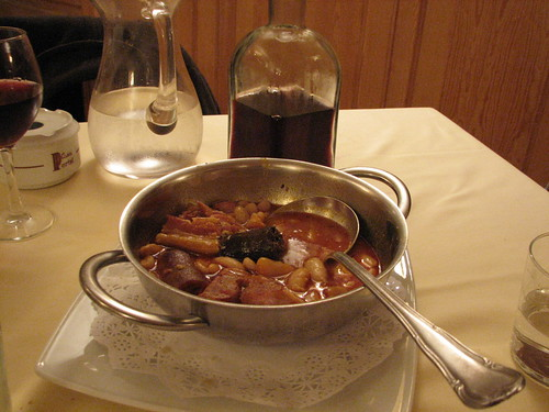 Jug of House Wine and Fabada @ Casa Portal (Madrid)