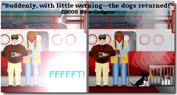 Suddenly, with little warning the dogs returned ©2008 New Codgers
