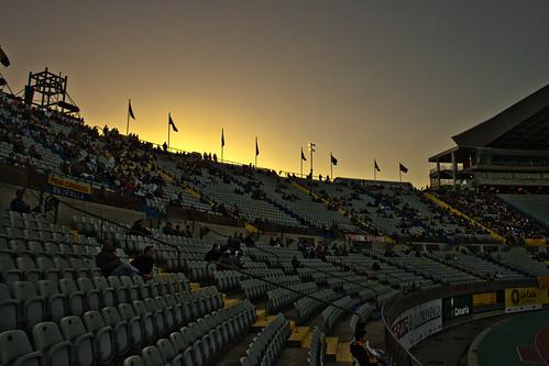 Atardeciendo en el estadio de Gran Canaria