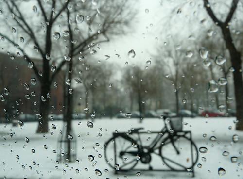Snowy Paris through a car window 4/365