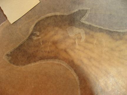 Wax paper rubbing demo I