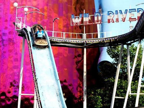 Wild River flume ride at Fun Forest Amusement Park. Photo © M.V. Jantzen via flickr