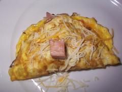 Smiley Face Ham on my omlette
