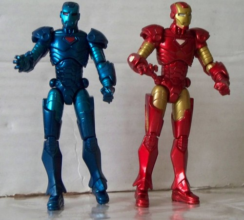 Stealth Iron Man and Daywear Iron Man. This is what the inside of Tony Starks closet looks like.