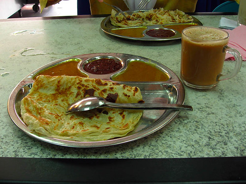 Tasty breakfast - roti canai