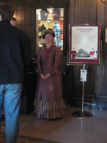The guide for the tours of the Château Frontenac, Québec City