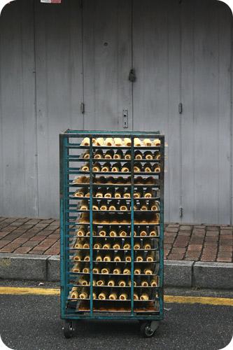 trolley of pineapple tarts