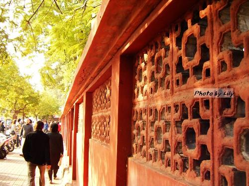 台南赤崁樓紅牆
