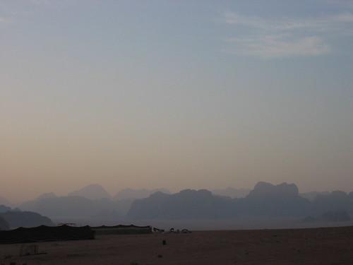 Sunrise in the desert, Wadi Rum, Jordan