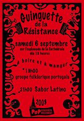 Affichette de la Guinguette de la Résistance 2008