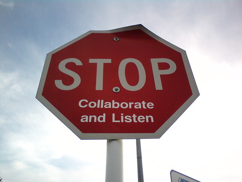 Stop, Collaborate and Listen by wonderferret, on Flickr