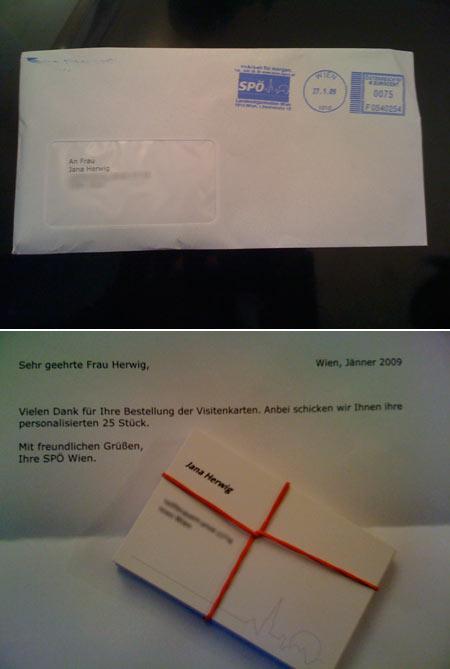 SPÖ-Visitenkarten