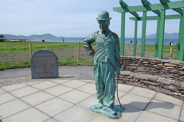 Charlie Chaplin Statue, Waterville, Ring of Kerry