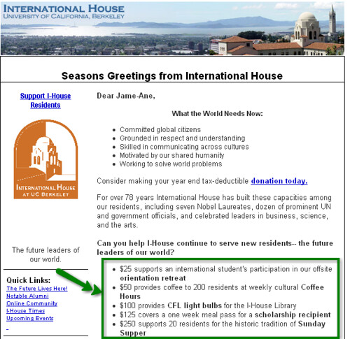 I-House Email