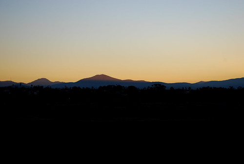 the mountains begin to glow