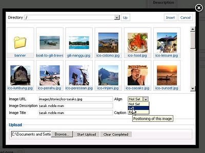 add joomla image to content