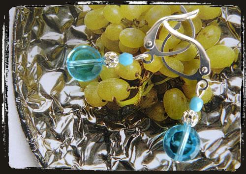 Orecchini celeste - Light blue earrings MEHFXST_BZ