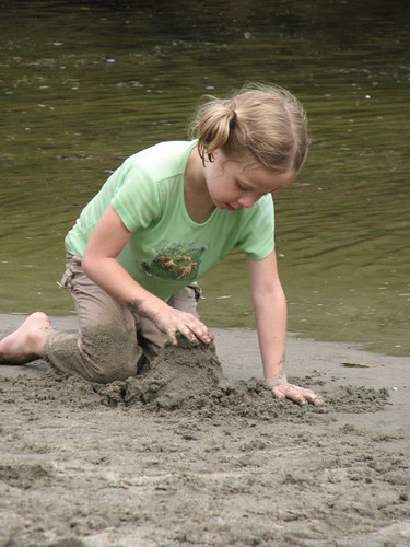 Emily at creek