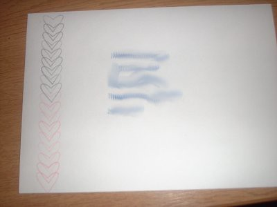 this is the first time i decorated the envelope as well - just a simple stamping technique, but it looks so effective.