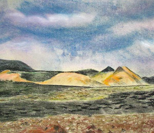 another pastel landscape. Photo and Pastel: Ulla Hennig