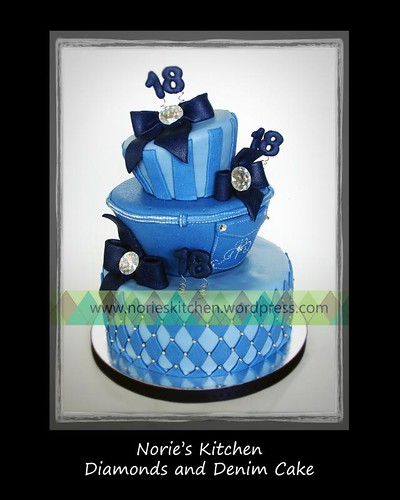 Norie's Kitchen - Diamonds and Denim Debut Cake