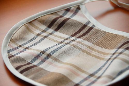 Burberry like fabrics (From FabricLand) - bib