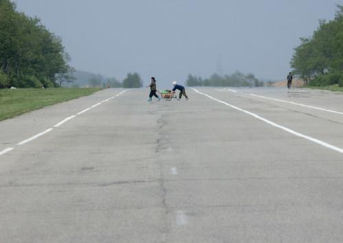 Crossing a highway - North korea