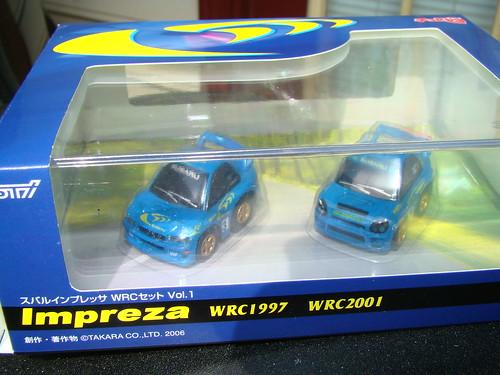 WRC Choro Q Subaru's