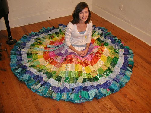 Image from Rainbow Patchwork Skirt