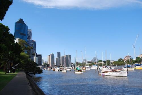 Vista del río de Brisbane