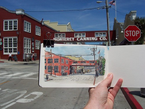 sketching cannery row