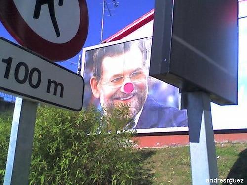 Rajoy payaso