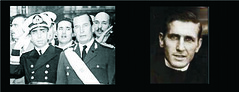 Isaac Rojas, Vicepresidente de facto 1955-1958. Pedro Aramburu, Presidente de facto 1955-1958. Padre Carlos Mugica, asesinado en 1974 por la Triple A.