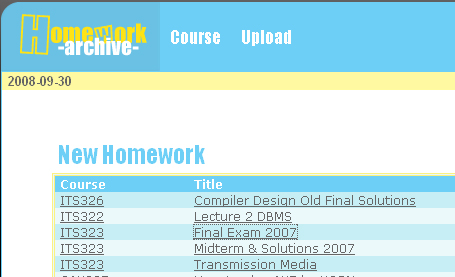 The Homework Archive