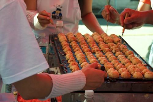 Takoyaki making-raw - 07