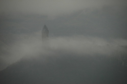 Wallace Monument in the mist