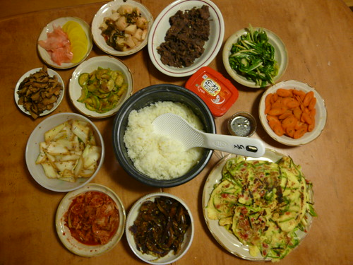 Korean spread - bibimbap plus