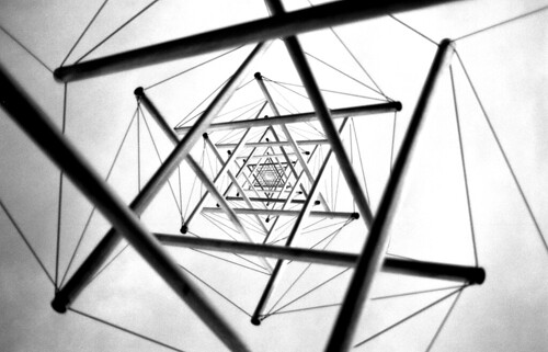 Abstract Star of David. (Ilford Pan F Plus. Nikon F100. Epson V500.)