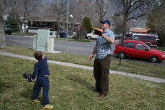 Oscar and Dad Playing Catch