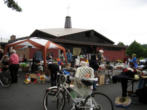 Sale in church parking lot