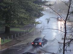 pouring rain outside in Fremantle