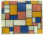 Piet Mondrián. Composición con colores planos y l�neas grises. 1918.